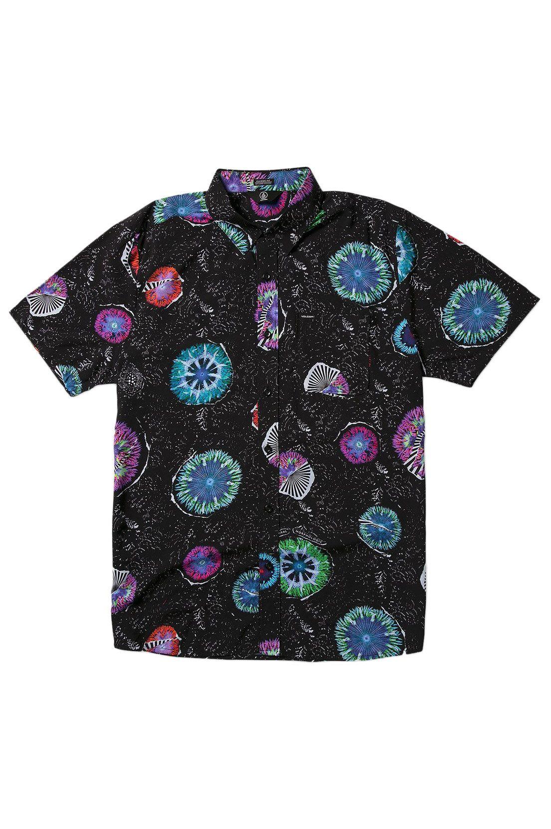 Camisa Volcom CORAL MORPH S/S Black