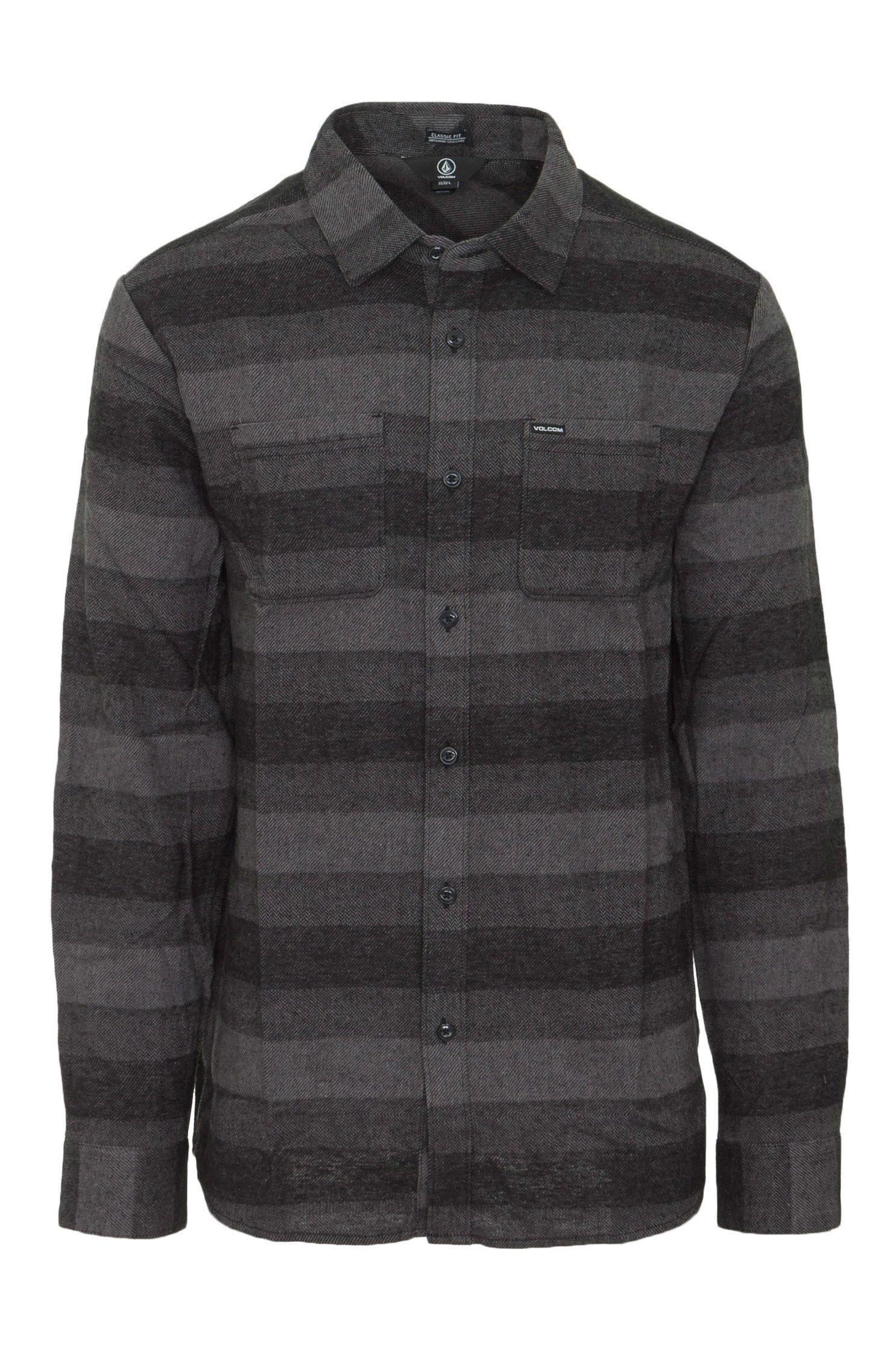 Camisa Volcom TONE STONE L/S Grey
