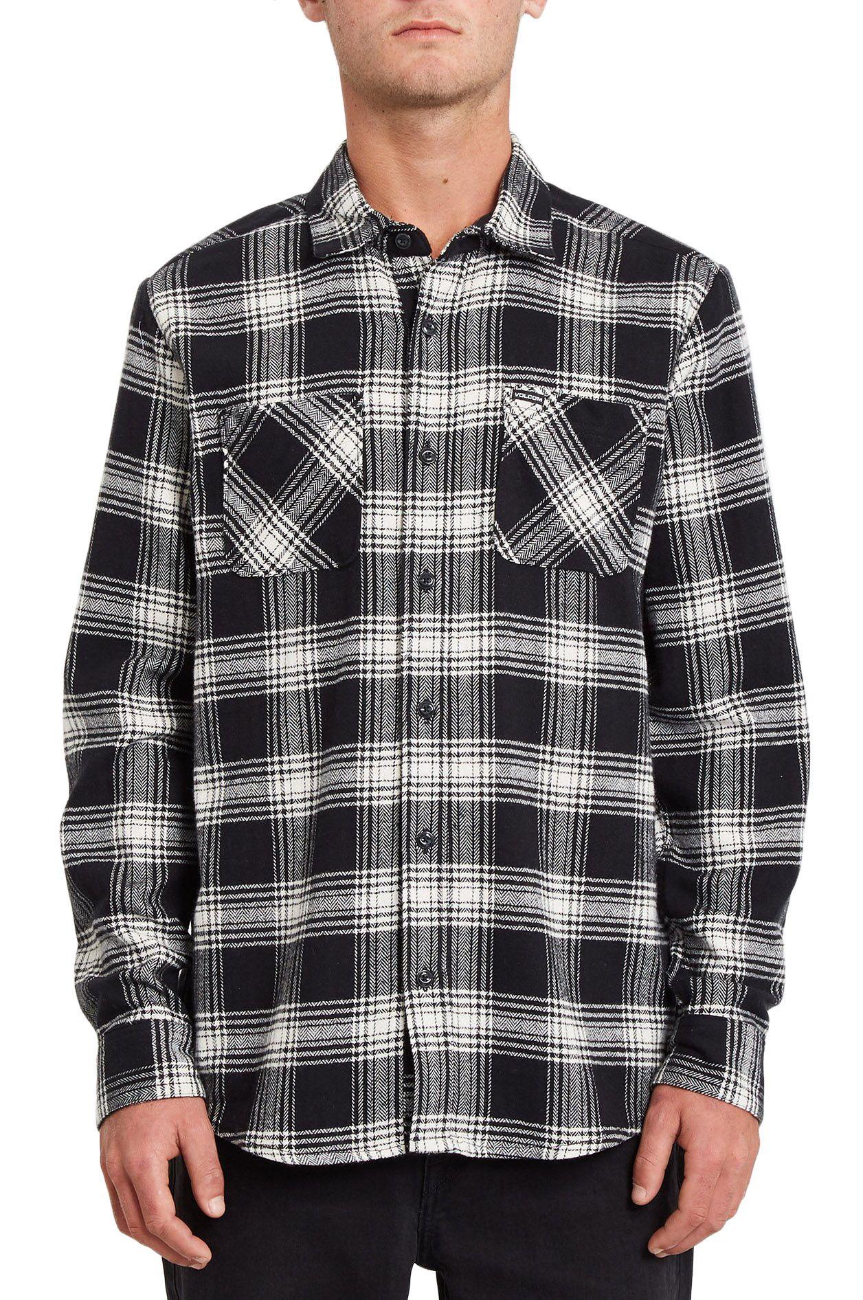 Volcom Shirt TONE STONE L/S New Black