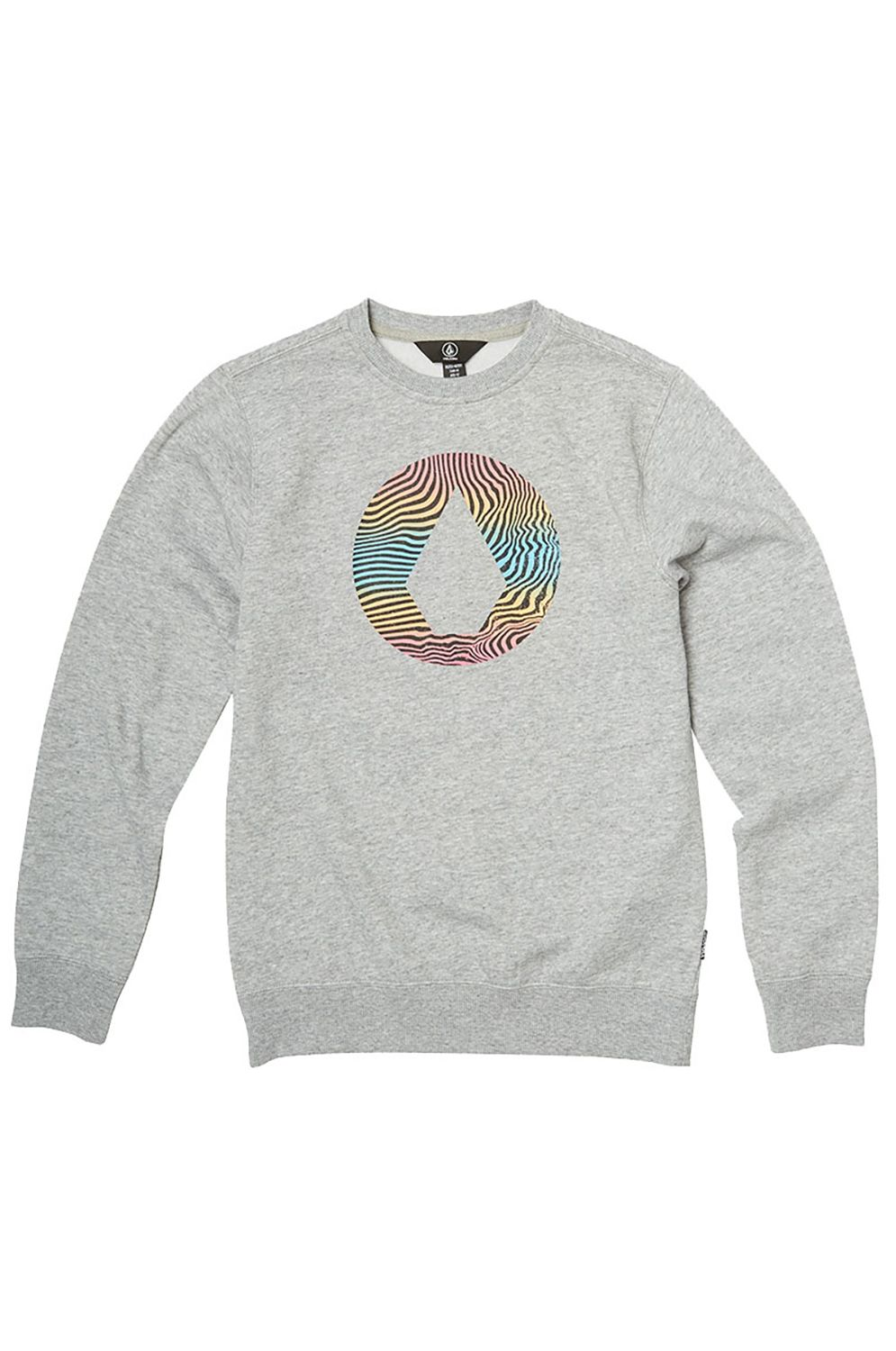 Sweat Basica Volcom STONE CREW Heather Grey