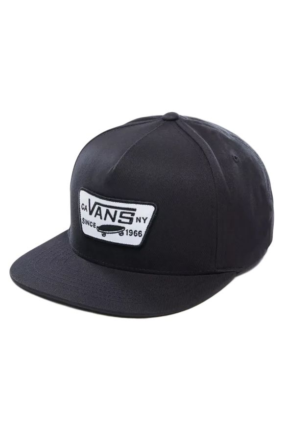 Vans Cap   FULL PATCH SNAPBACK True Black