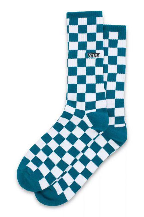 Meias Vans CHECKERBOARD CREW II (6.5-9, 1PK) Blue Coral