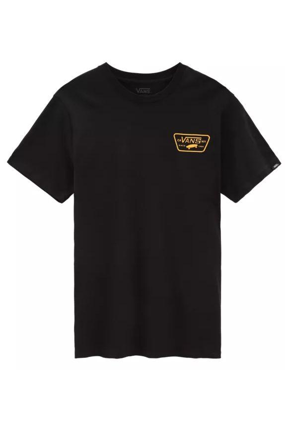 Vans T-Shirt FULL PATCH BACK SS Black-Saffron