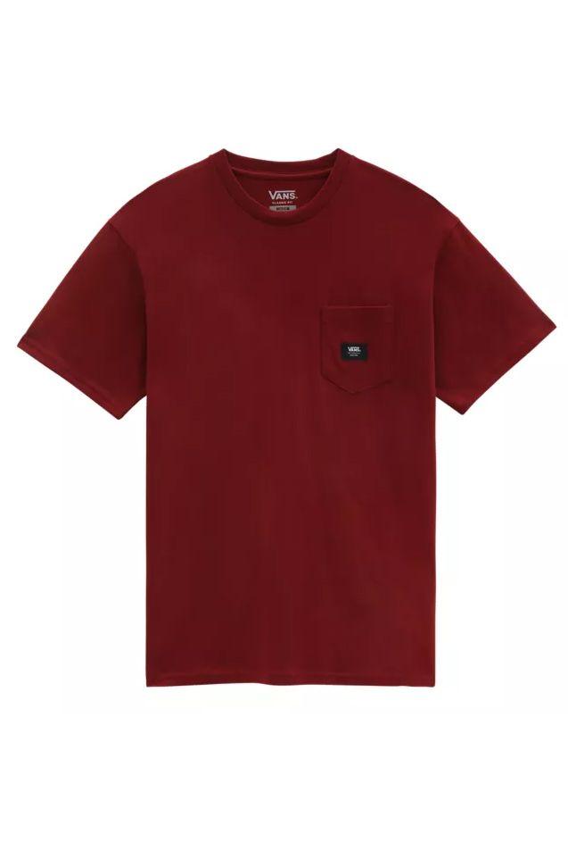 Vans T-Shirt WOVEN PATCH POCKET M Pomegranate