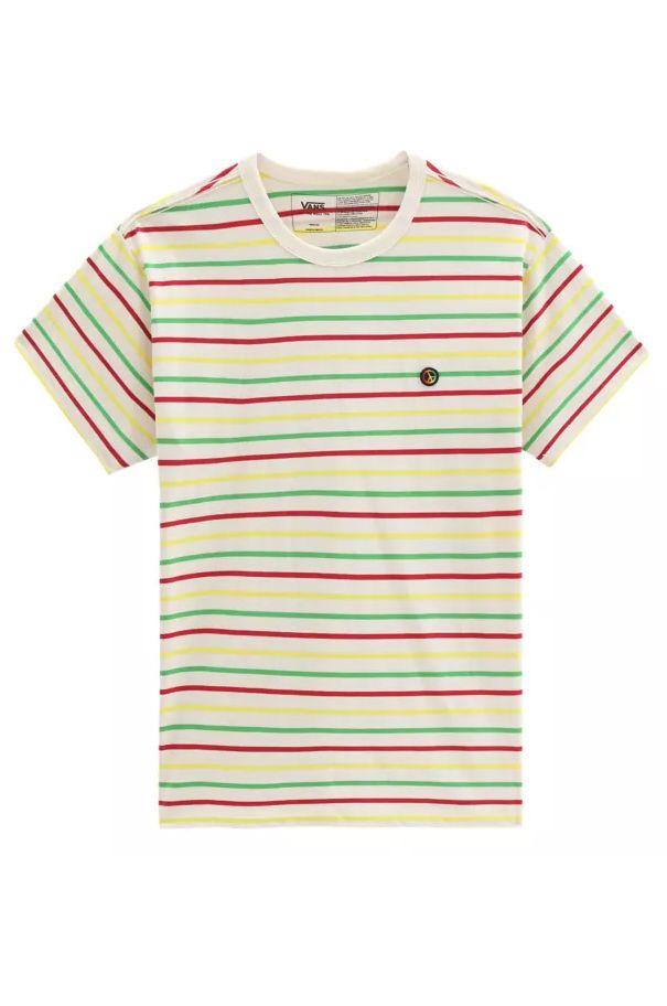 Vans T-Shirt TYSON PETERSON STRIPED OTW SS White