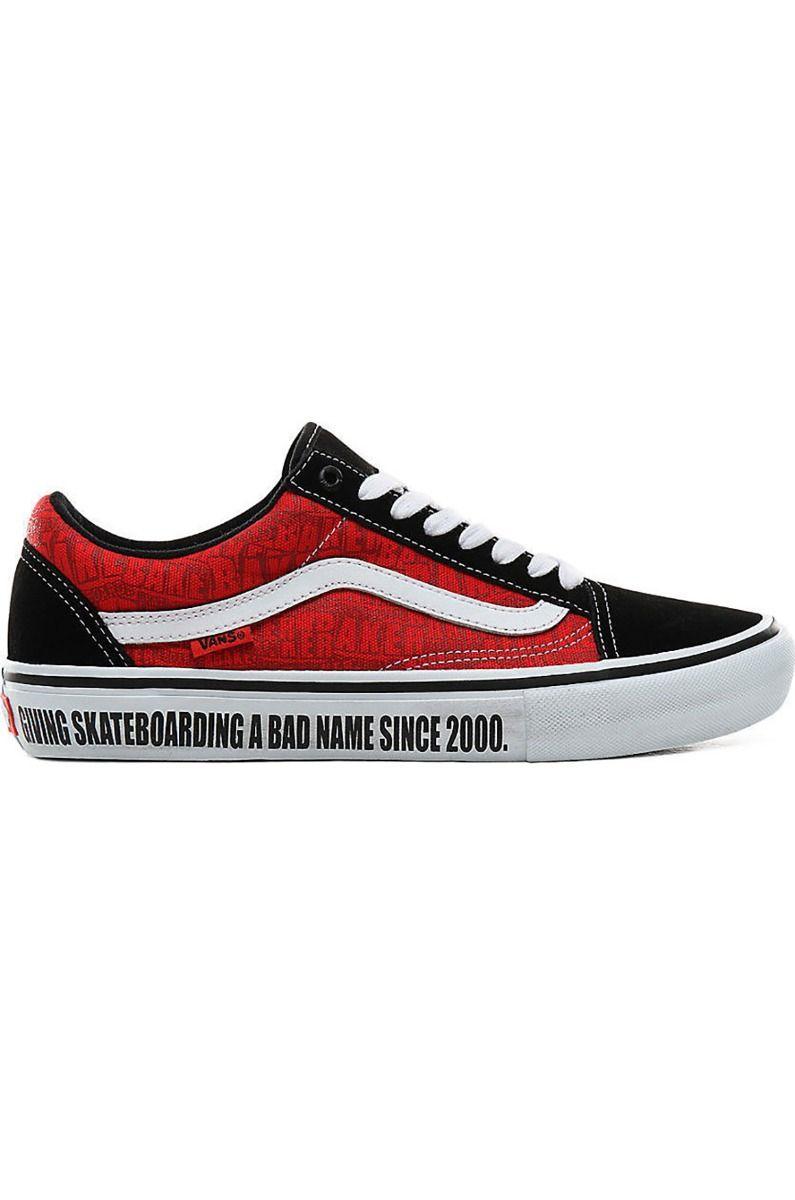 Vans Shoes OLD SKOOL PRO (Baker) Black/White/Red
