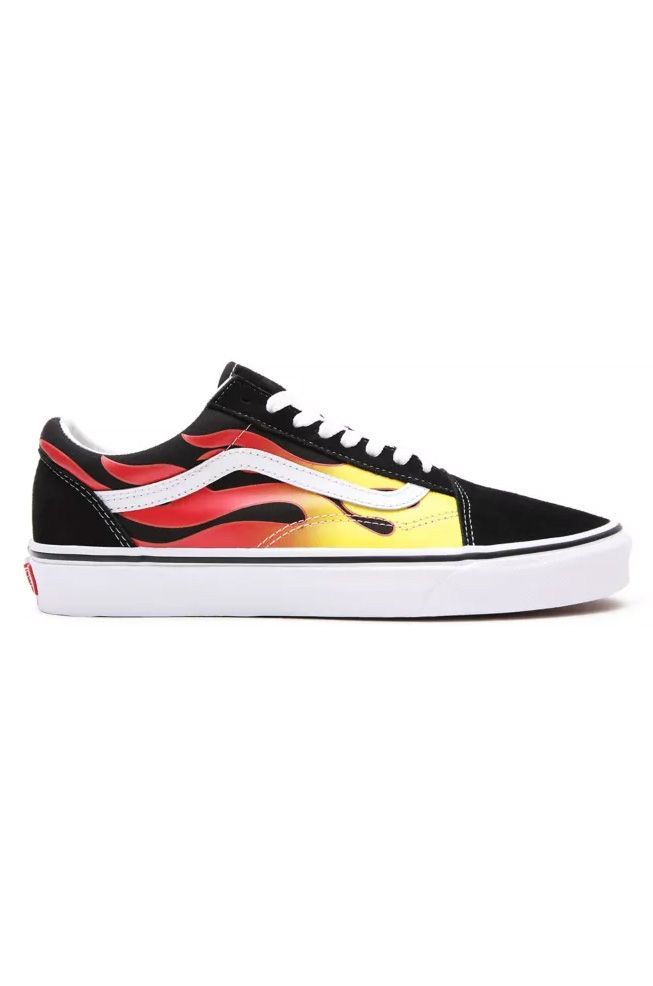 Vans Shoes UA OLD SKOOL (Flame) Black/Black/True White