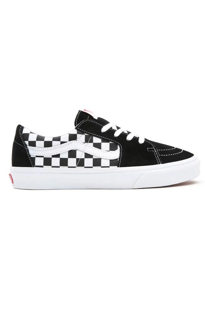 Vans Shoes UA SK8-LOW (Canvas/Suede) Black/Checkerboard