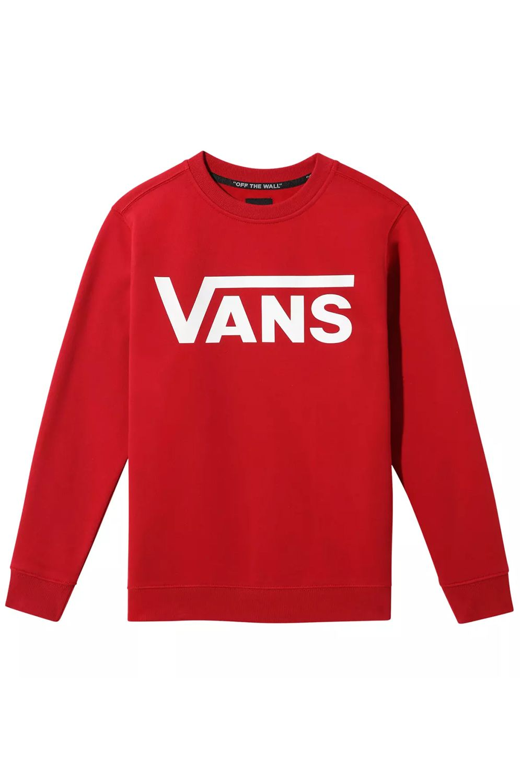 Vans Crew Sweat VANS CLASSIC CREW BOYS Chili Pepper-White
