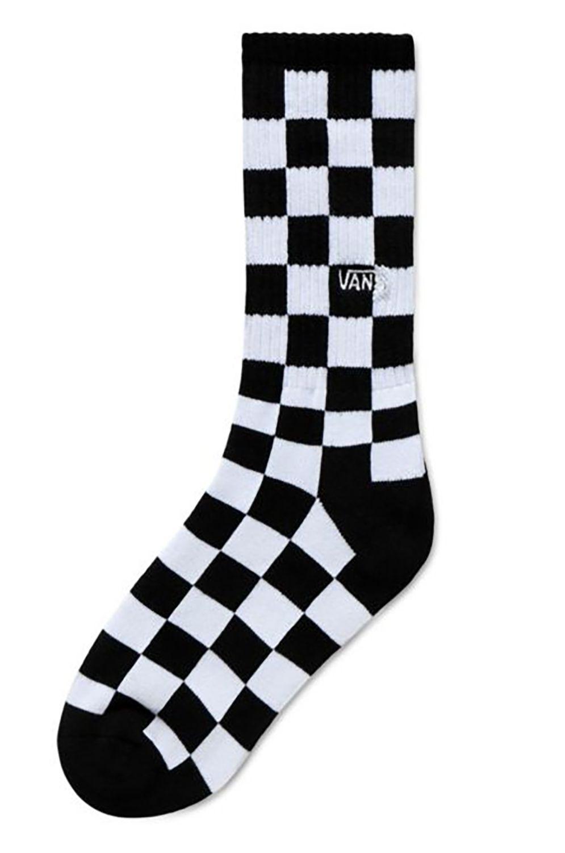 Meias Vans CHECKERBOARD CREW BOYS (1-6, 1PK) Black-White Check