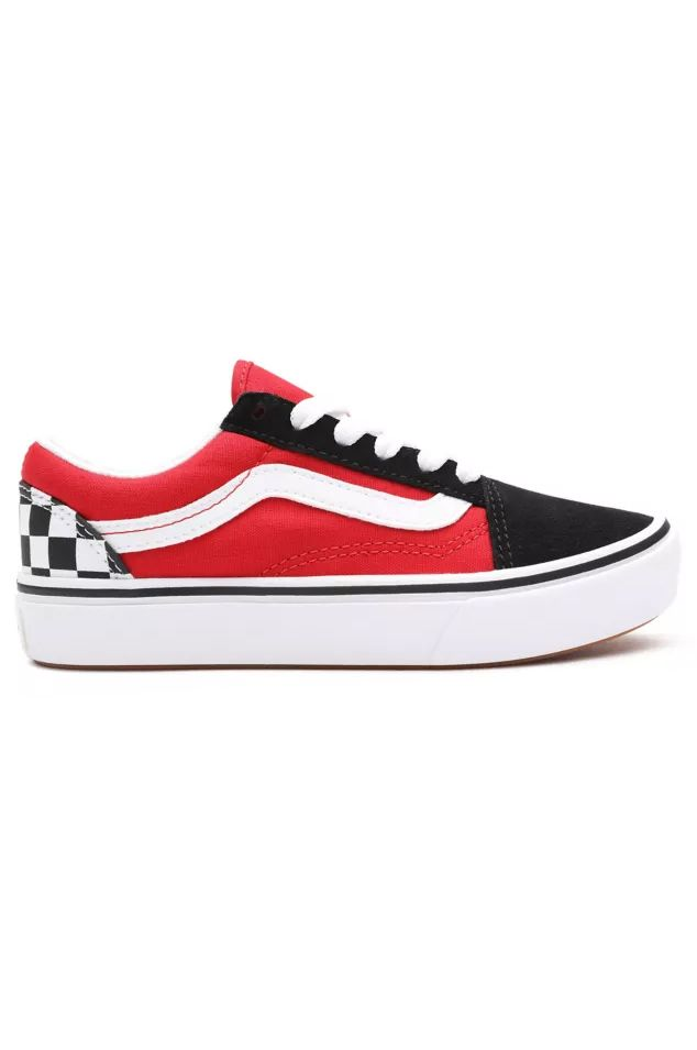 Tenis Vans JN COMFYCUSH OLD SKOOL (Checkerboard) Black/Red