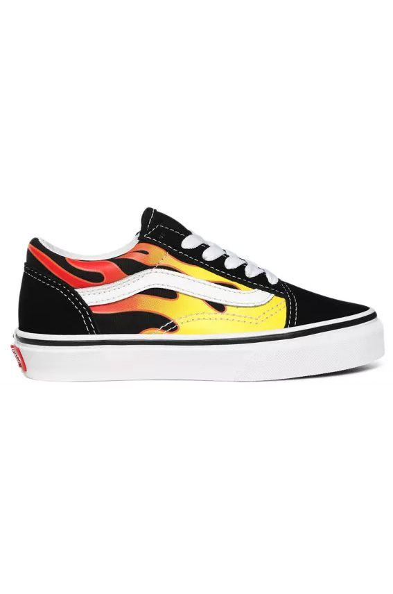 Vans Shoes UY OLD SKOOL (Flame) Black/True White