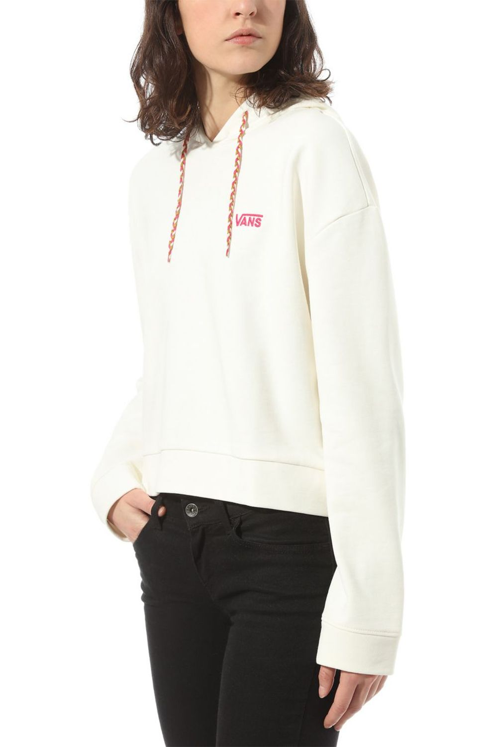 Sweat Capuz Vans JUNIOR V FT HOODIE Marshmallow