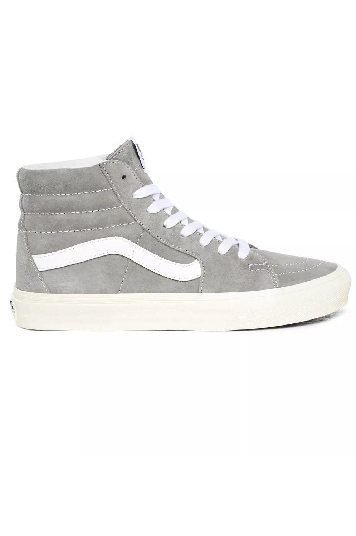 Vans Shoes UA SK8-HI (Pig Suede) Drizzle/Snow White