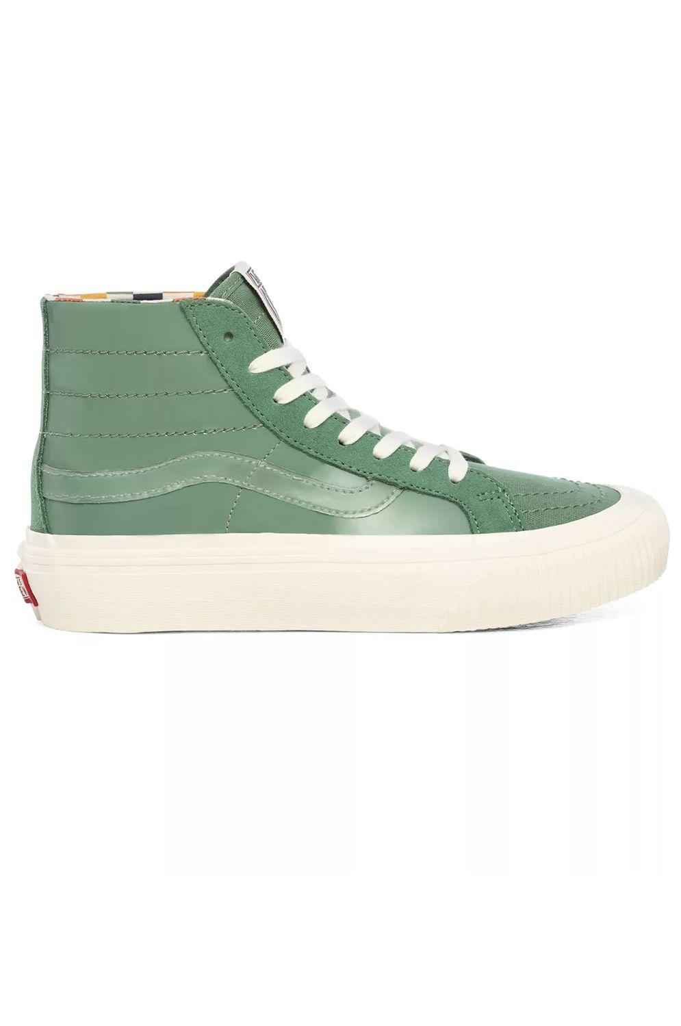 Vans Shoes UA SK8-HI 38 DECON SF (Karina Rozunko) Patent/Hedge Green