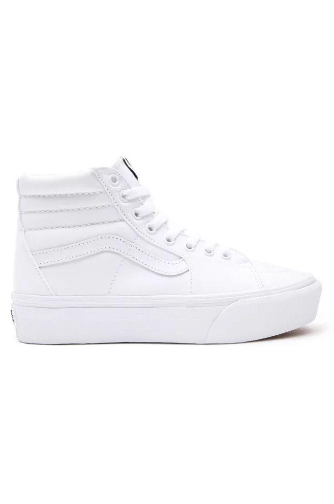 Vans Shoes UA SK8-HI PLATFORM 2.0 True White/True White