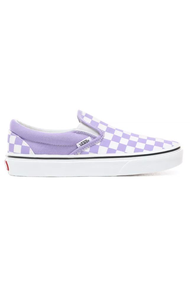 Vans Shoes UA CLASSIC SLIP-ON (Checkerboard) Chalk Violet/True White