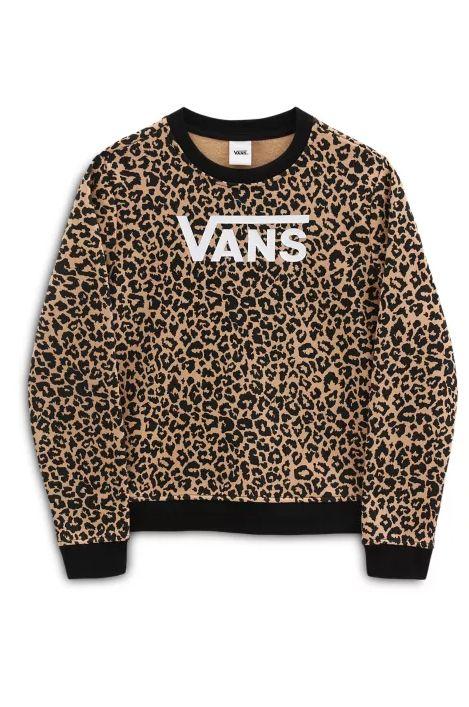 Vans Crew Sweat LEOPARD GIRLS Leopard
