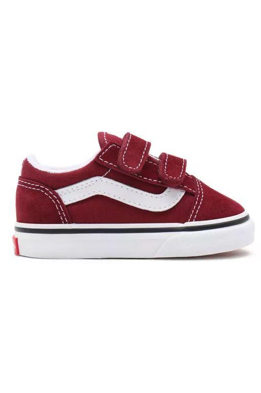 Vans Shoes TD OLD SKOOL V Pomegranate/True White