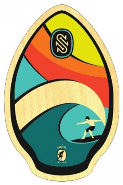 "Prancha Skimming Skim One WOOD 30"" Kauai Rainbow"