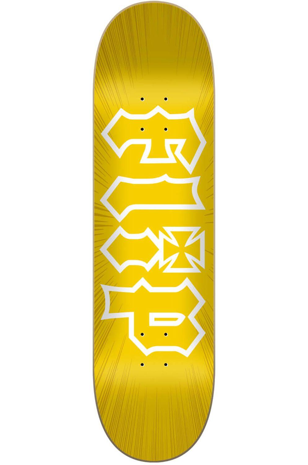 "Flip Skate Board 8"" X 31.5"" HKD BURST Yellow"