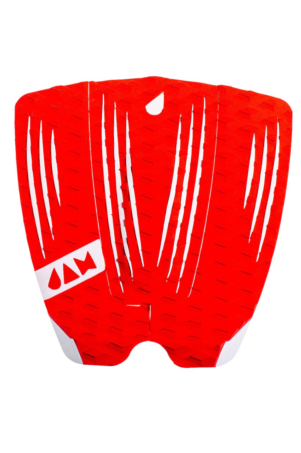 Deck Jam RECKLESS 3 PIECE TRACTION PAD Red/White Stripes