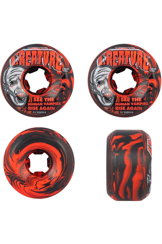 Rodas OJ Wheels 54MM BLOODSUCKERS 97A Red/Black Swirl