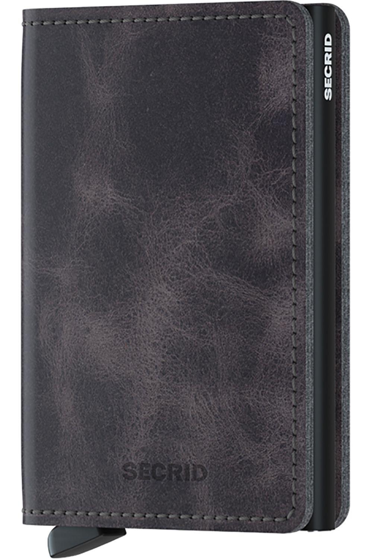 Carteira Pele Secrid SLIMWALLET VINTAGE Grey/Black