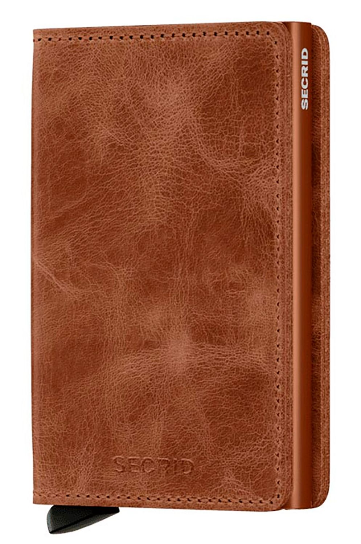 Carteira Pele Secrid SLIMWALLET VINTAGE Cognac/Rust