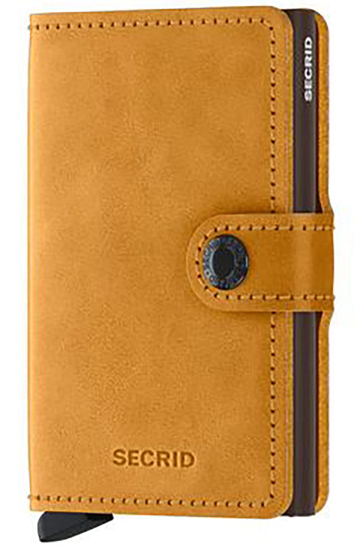 Secrid Leather Wallet MINIWALLET VINTAGE Ochre