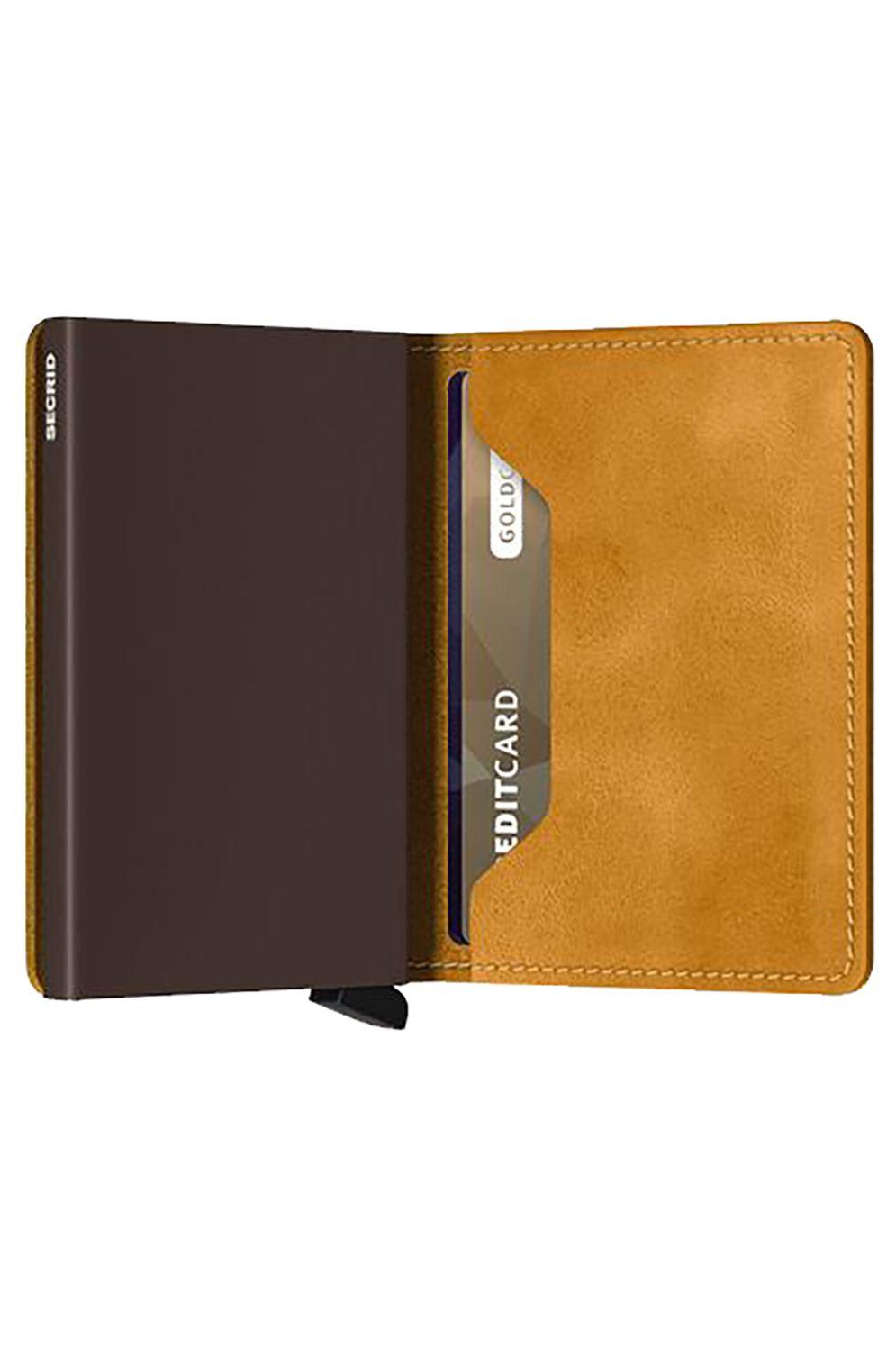 Secrid Leather Wallet SLIMWALLET VINTAGE Ochre