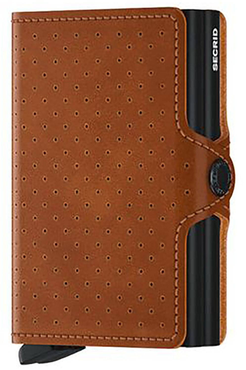 Carteira Pele Secrid TWINWALLET PERFORATED Cognac