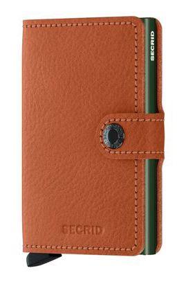Secrid Leather Wallet MINIWALLET VEG Caramello/Green