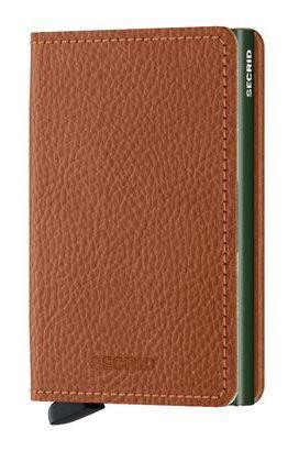 Secrid Leather Wallet SLIMWALLET VEG Caramello/Green