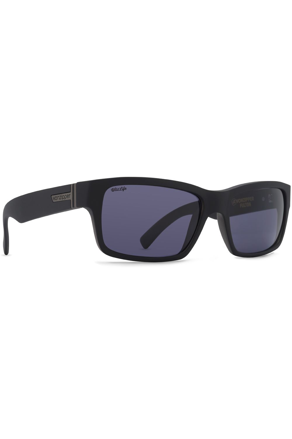 Oculos VonZipper FULTON WILDLIFE Black Satin / Wildlife Vintage Grey Polar