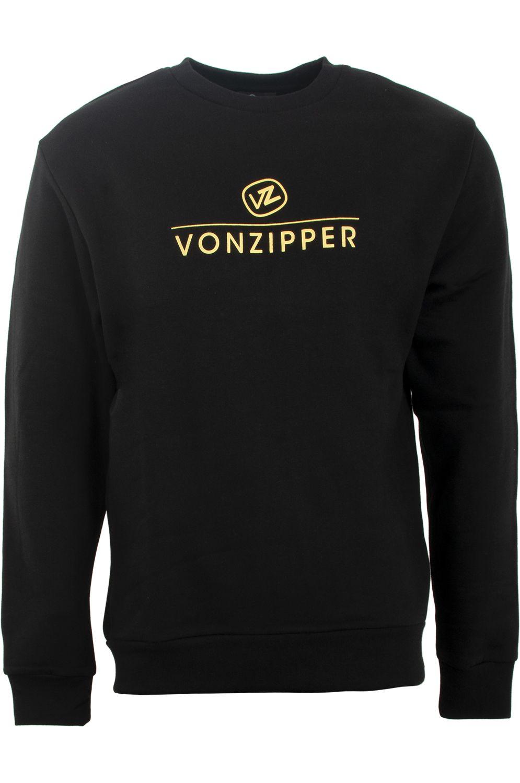 Sweat Basica VonZipper STACKED Black