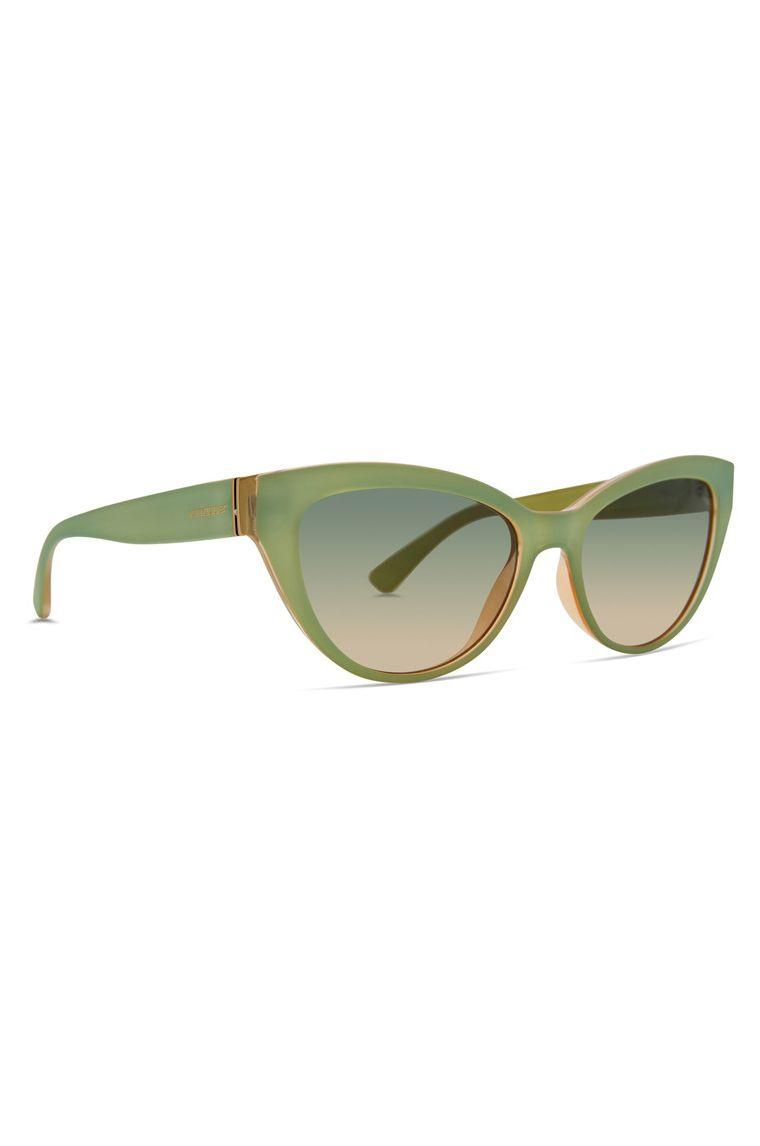 VonZipper Sunglasses YA-YA Glowing Seafoam Satin/Green Bronze Gradient