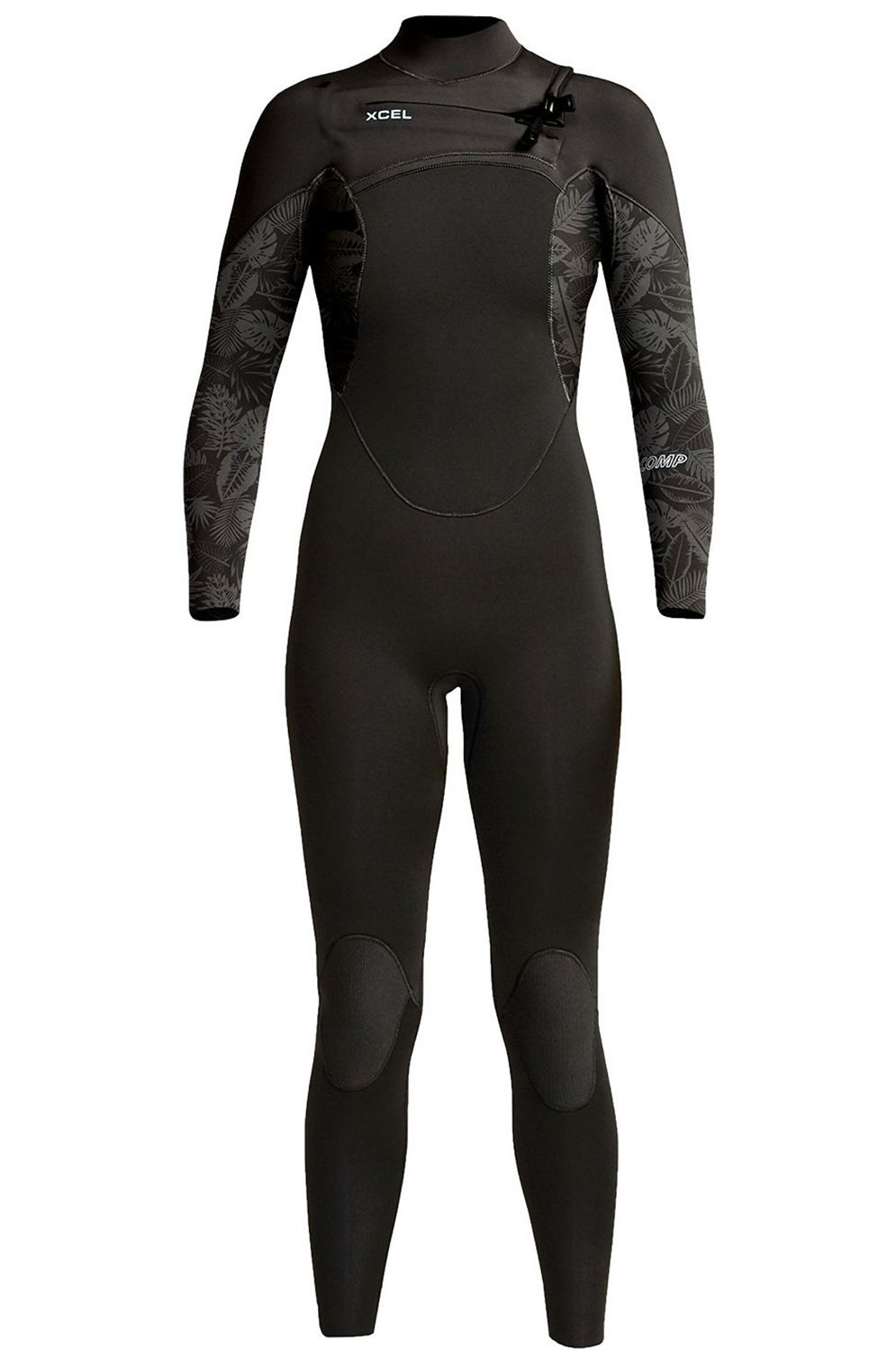 Xcel Wetsuit W COMP 3/2MM - FULLSUIT THERMO LITE Black/Black Mixed Greens Print