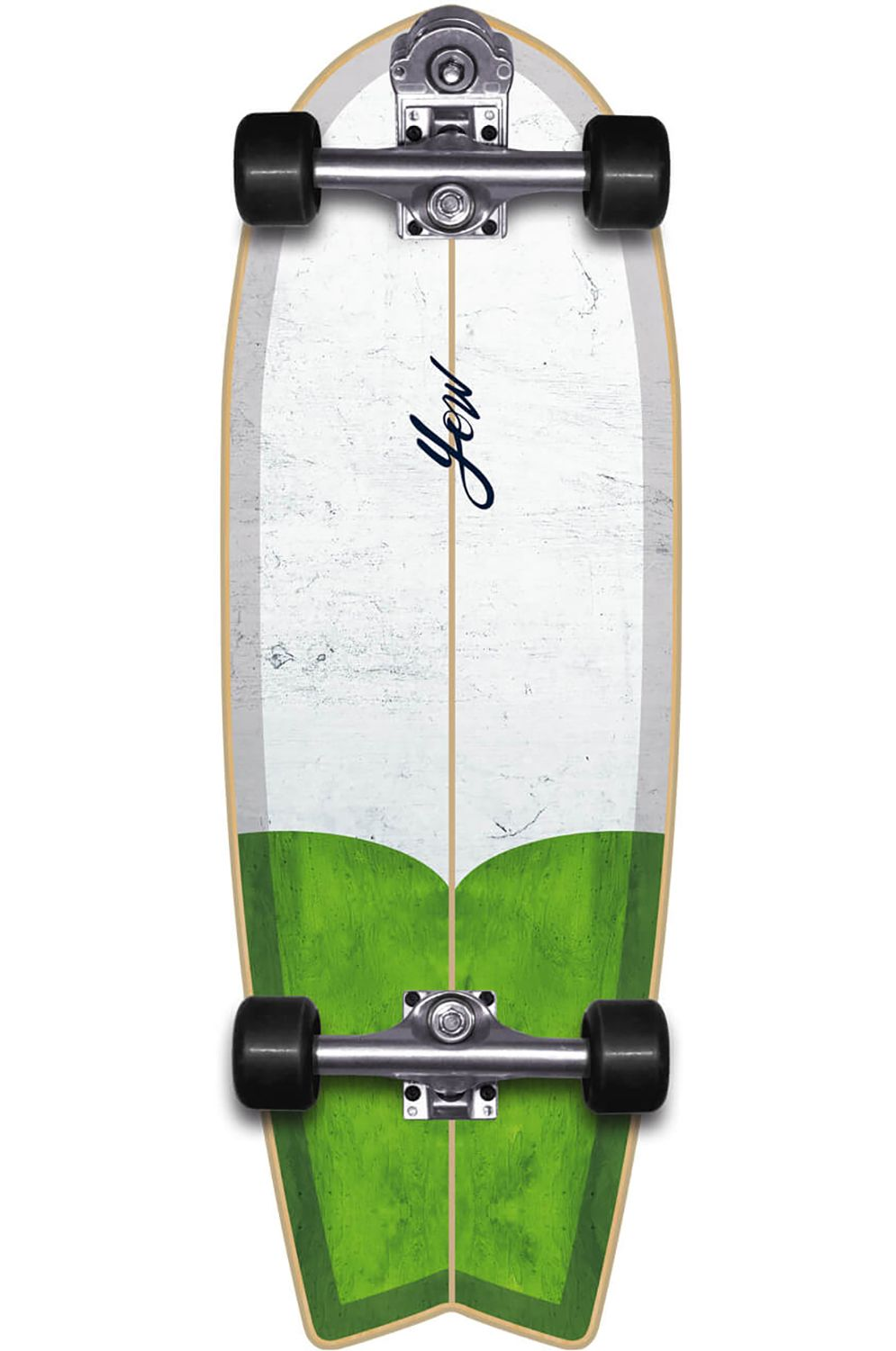 """Yow Surf Skate EISBACH 30"""" THE FIRST White/Green"""