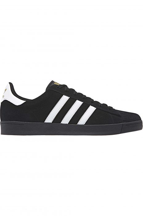 10adf1bf957 Tenis Adidas SUPERSTAR VULC ADV Core Black Ftwr White Gold Met.
