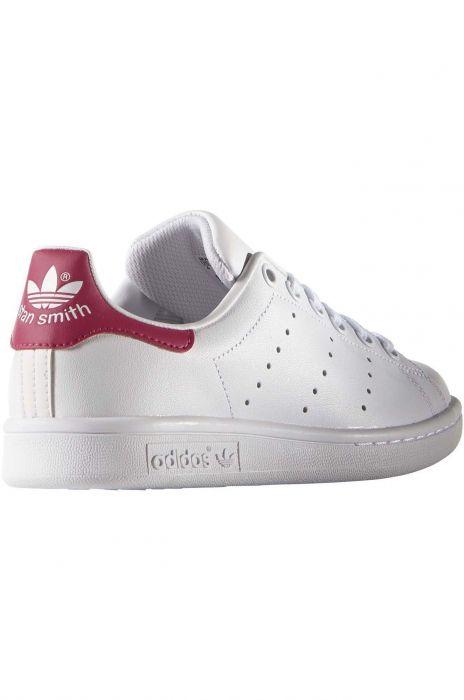 Köp adidas Originals Stan Smith J Ftwr WhiteBold Pink vita