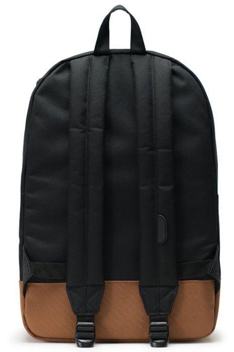 92319016059 Herschel Backpack HERITAGE Black Saddle Brown