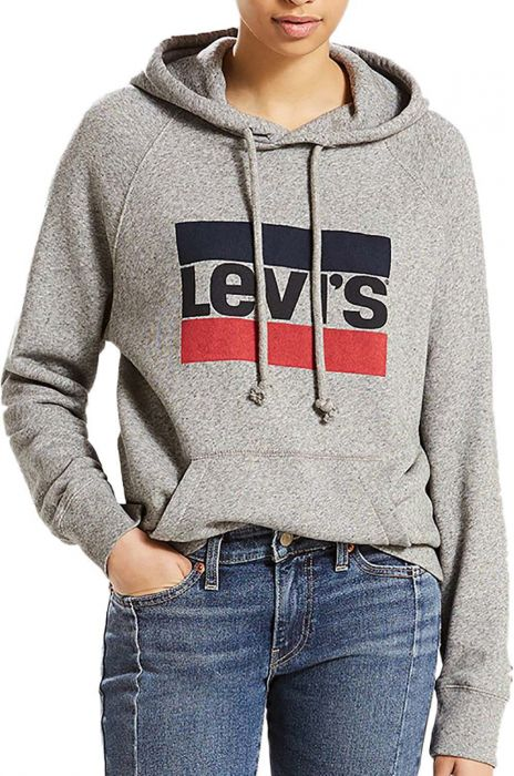 546f44ce6a6 Levis Sweat Hood GRAPHIC SPORT Sportswear Hoodie Smokestack Htr M