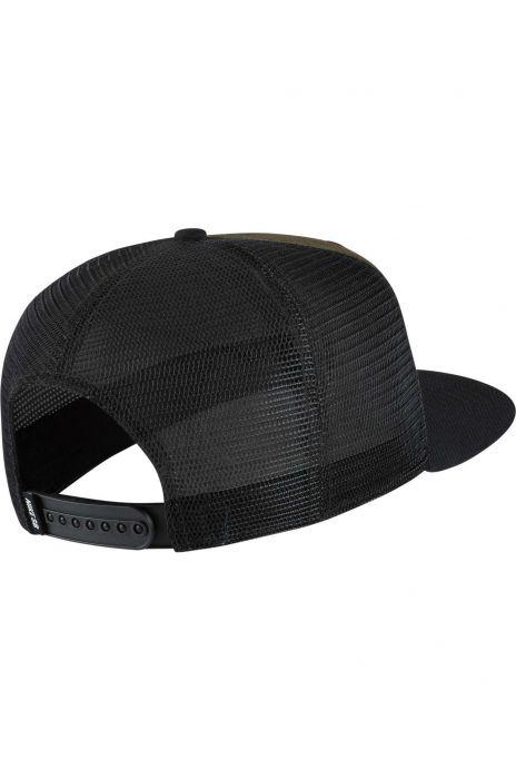 cbeb39a92aa Nike Sb Cap PRO PATCH TRUCKER Medium Olive Black Black (Black) (Cf Camo)