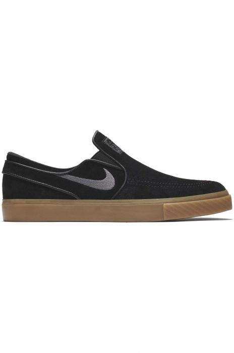 14500ec28a4 Nike Sb Shoes ZOOM STEFAN JANOSKI SLIP Black Gunsmoke-Gum Light Brown