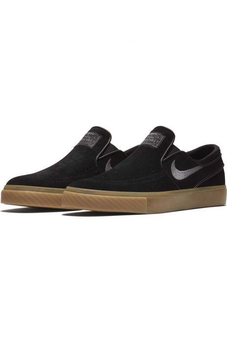 e1e587b538d685 Nike Sb Shoes ZOOM STEFAN JANOSKI SLIP Black Gunsmoke-Gum Light Brown