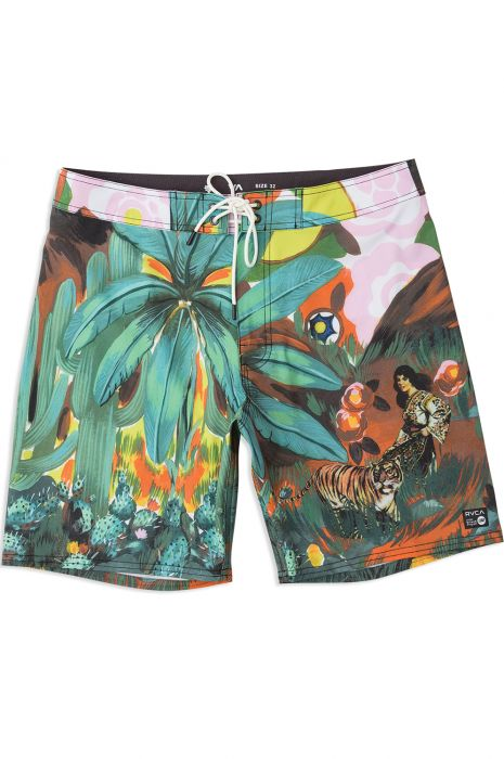 RVCA Boardshorts MEL G TIGER PALM MELISSA GRISANCICH Tropical