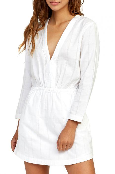 8a885736413e7 RVCA Dress DOUBLE DARE White