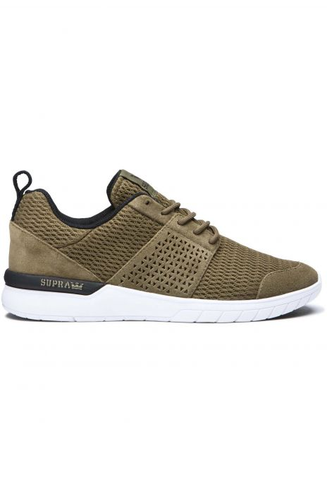 313c2429fa08 Supra Shoes SCISSOR Olive Black White
