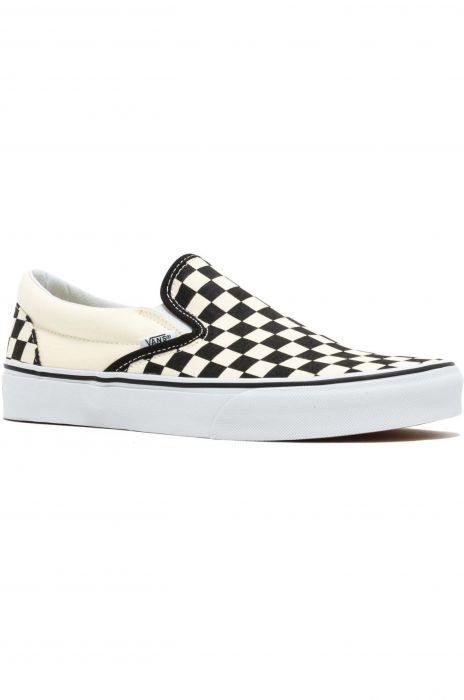 później całkiem miło świetne dopasowanie Vans Shoes CLASSIC SLIP-ON Blk&Whtchckerboard/Wht 46